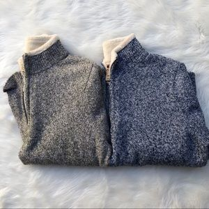 Wool rich woolrich lot of 2 pullover quarter zip